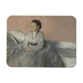 Edgar Degas - Portrait of Madame Rene de Gas Magnet