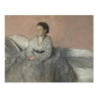 Edgar Degas - Portrait of Madame Rene de Gas Postcard