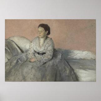 Edgar Degas - Portrait of Madame Rene de Gas Poster