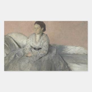 Edgar Degas - Portrait of Madame Rene de Gas Sticker