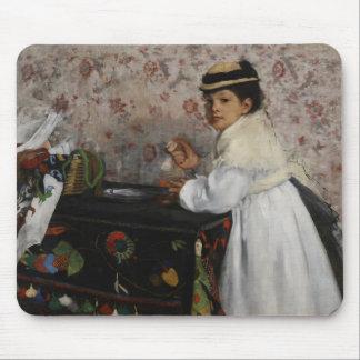 Edgar Degas | Portrait of Mlle Hortense Valpinçon Mouse Pad