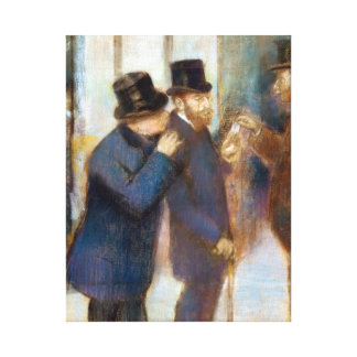 Edgar Degas Portraits at the Stock Exchange Canvas Print