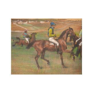 Edgar Degas - Race Horses Canvas Print