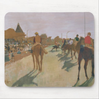 Edgar Degas | Race Horses in front of the Stands Mouse Pad