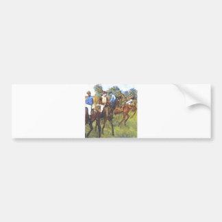 Edgar Degas - Race Horses Jockey Trees Rennpferde Bumper Sticker