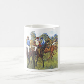 Edgar Degas - Race Horses Jockey Trees Rennpferde Classic White Coffee Mug