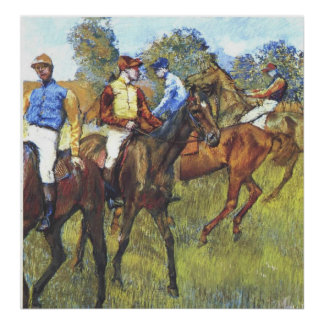 Edgar Degas - Race Horses Jockey Trees Rennpferde Posters