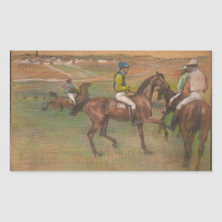 Edgar Degas - Race Horses Sticker