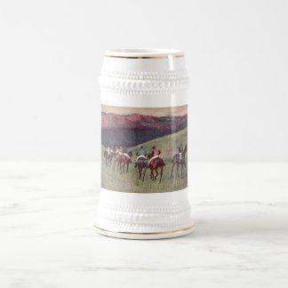 Edgar Degas - Race Horses Training 1894 racehorses 18 Oz Beer Stein