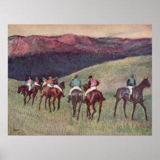 Edgar Degas - Race Horses Training 1894 racehorses Poster