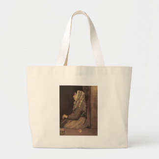 Edgar Degas Roman Beggar Woman Large Tote Bag