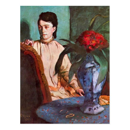 Edgar Degas - Seated woman Postcard