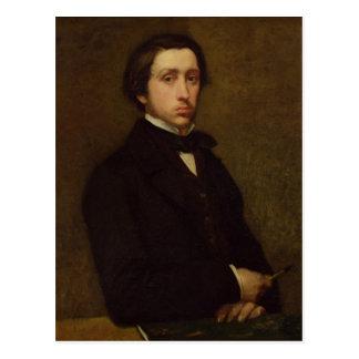 Edgar Degas   Self portrait, 1855 Postcard