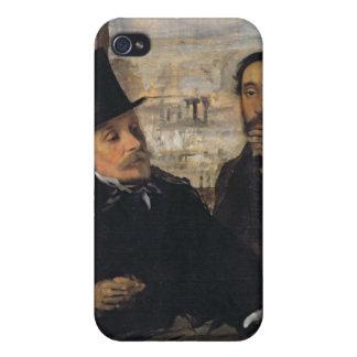 Edgar Degas | Self Portrait w Evariste de Valernes iPhone 4/4S Case