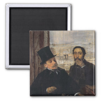 Edgar Degas | Self Portrait w Evariste de Valernes Magnet