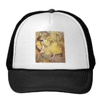 Edgar Degas - Sitting dancer with the right leg up Trucker Hat