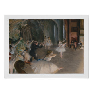 Edgar Degas | Stage Rehearsal Poster