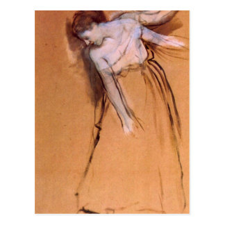 Edgar Degas - Standing with arms stretched bent to Postcard