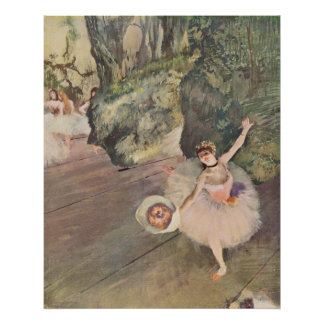 Edgar Degas Star of Ballet w/ Flowers 1878 pastel Poster