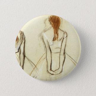 Edgar Degas: Study for the Little Dancer 2 Inch Round Button