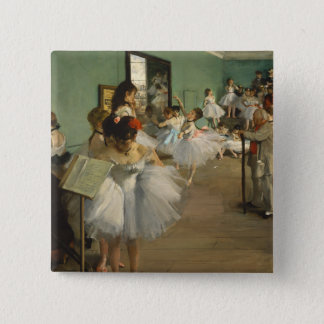 Edgar Degas-The dance class 1874 2 Inch Square Button