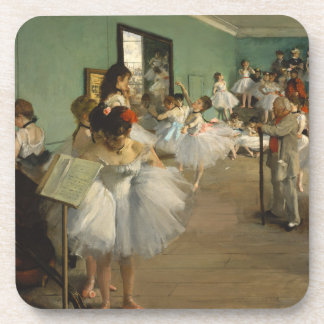 Edgar Degas-The dance class 1874 Coaster