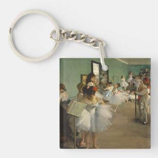 Edgar Degas-The dance class 1874 Keychain