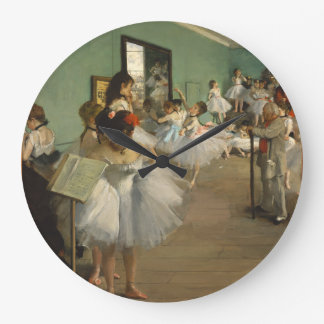 Edgar Degas-The dance class 1874 Large Clock