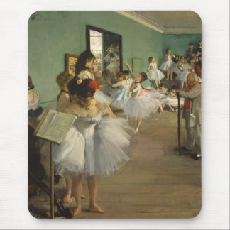 Edgar Degas-The dance class 1874 Mouse Pad