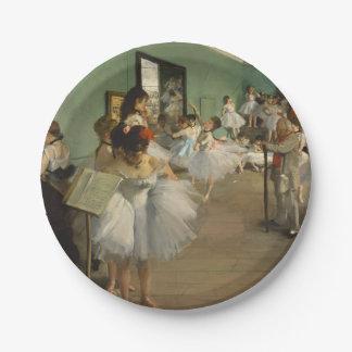 Edgar Degas-The dance class 1874 Paper Plate