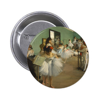 Edgar Degas The Dance Class 2 Inch Round Button