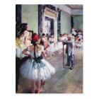 Edgar Degas - The dance class Postcard