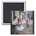 Edgar Degas - The dance class Square Magnet