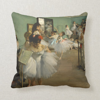 Edgar Degas The Dance Class Throw Pillow