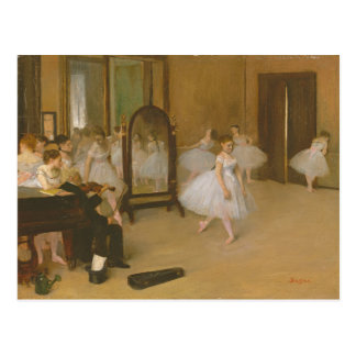 Edgar Degas The Dancing Class Postcard