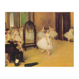 Edgar Degas | The Dancing Class Wood Canvases