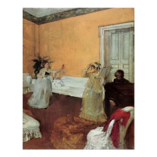 Edgar Degas The Duet Poster