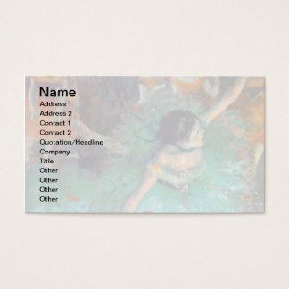 Edgar Degas - The Green Dancers - Ballet Dance Business Card