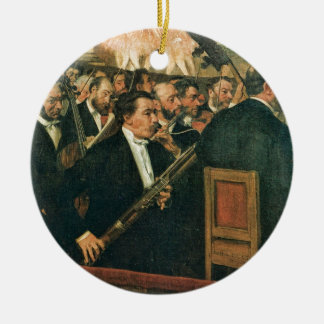 Edgar Degas The Orchestra of the Opera Ceramic Ornament