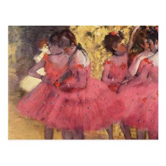 Edgar Degas The Pink Dancers Postcard