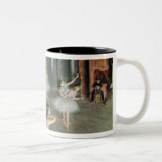 Edgar Degas | The Rehearsal of the Ballet on Stage Two-Tone Coffee Mug