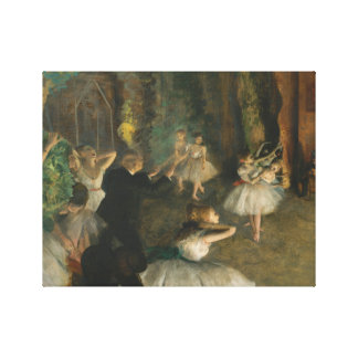 Edgar Degas - The Rehearsal of the Ballet Onstage Canvas Print