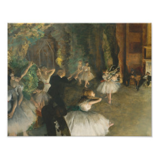 Edgar Degas - The Rehearsal of the Ballet Onstage Photo Print