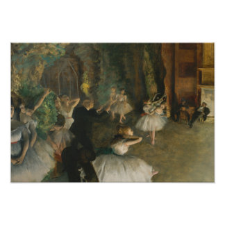Edgar Degas - The Rehearsal of the Ballet Onstage Poster