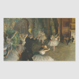 Edgar Degas - The Rehearsal of the Ballet Onstage Sticker