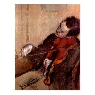 Edgar Degas - The violinist Postcard