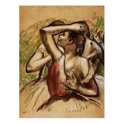 Edgar Degas: Three Ballet Dancers Postcards
