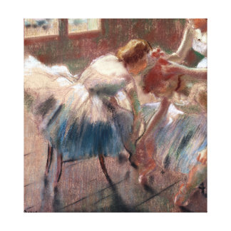Edgar Degas Three Dancers Preparing for Class Canvas Print