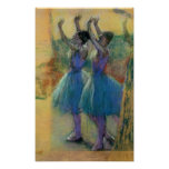 Edgar Degas   Two Blue Dancers Poster