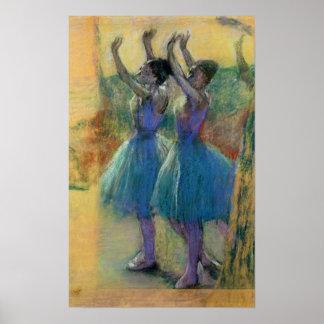Edgar Degas | Two Blue Dancers Poster